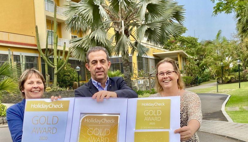 Holidaycheck Gold Award 2020 für Hotel Tigaiga