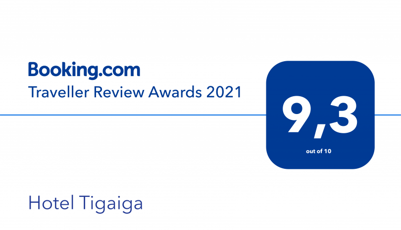 BRAVO:  Traveller Review Awards TIGAIGA Hotel & Suites