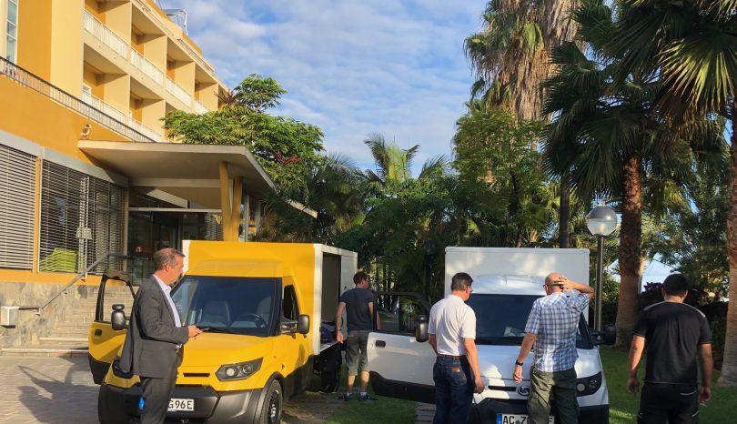 En fase de prueba:  los StreetScooters llegan a Tenerife
