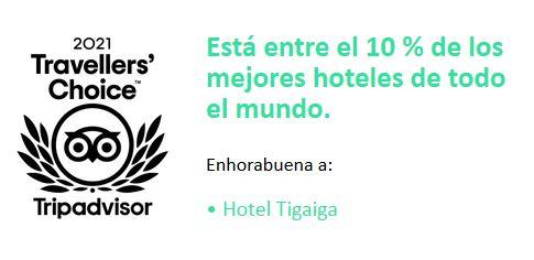 Enhorabuena: Hotel Tigaiga recibe TripAdvisor: premio Travellers' Choice 2021